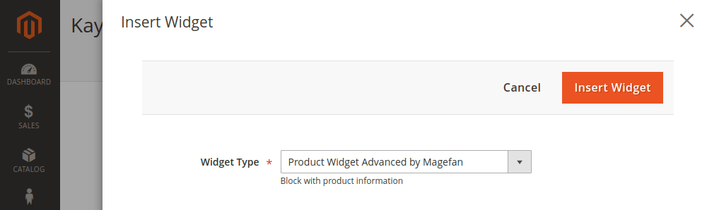 Magento 2 Widget Type