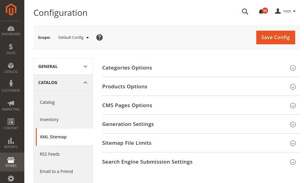 Magento 2 XML Sitemap Configuration