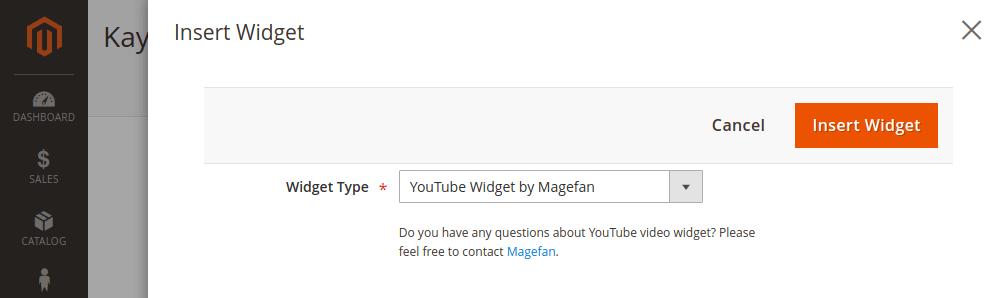 Magento 2 YouTube widget