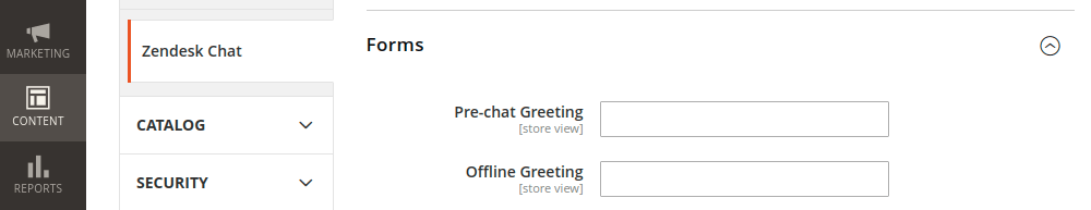 Configure Magento 2 Zendesk Chat Forms