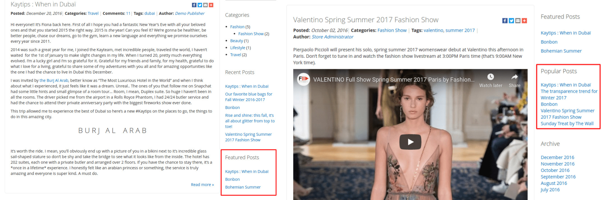 Magento 2 featured and popular posts