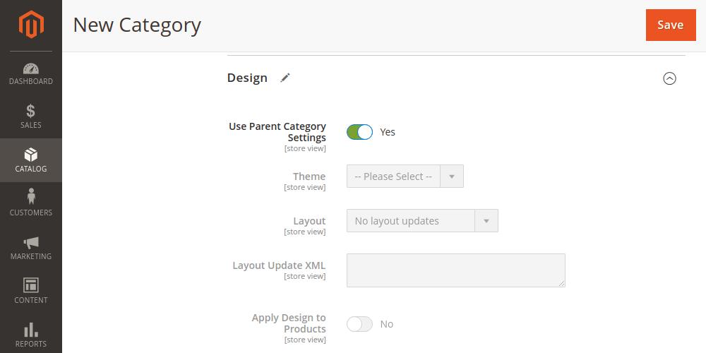 Magento 2 category default design