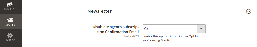 Magento Newsletter Subscription Confirmation