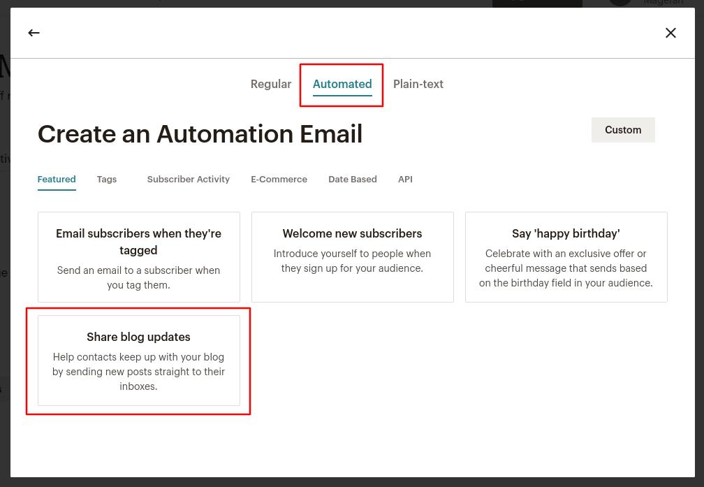 Mailchimp Create Email