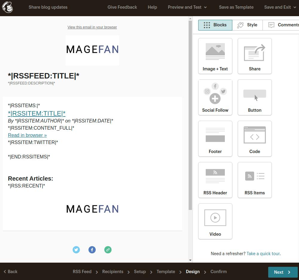 Mailchimp Design Template