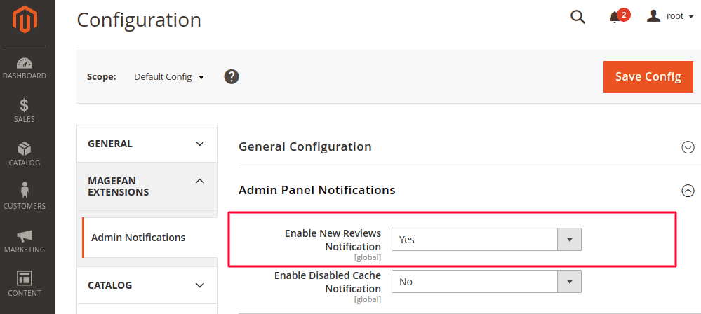 Magento 2 New Review Admin Notification