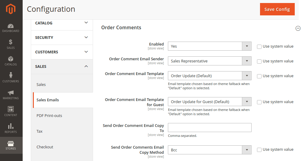 Order Comments Notification in Magento 2