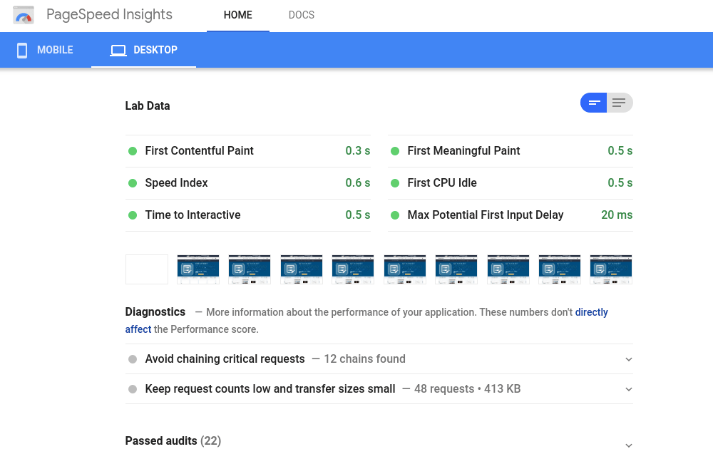 Page Speed Inside Data