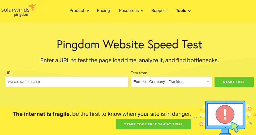 Pingdom Website Speed