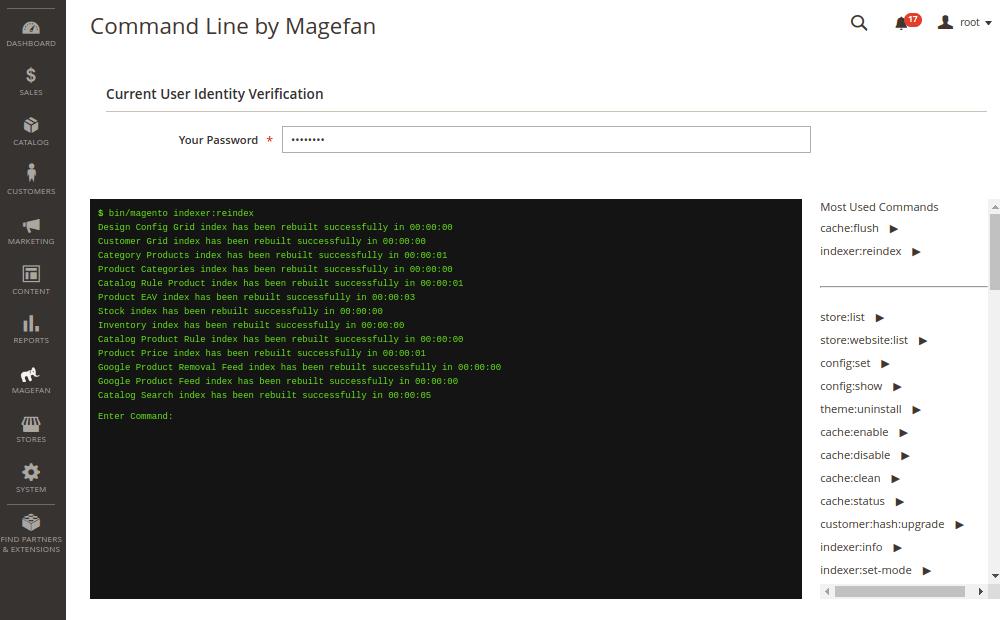 Run CLI Commands from Magento 2 Admin Panel