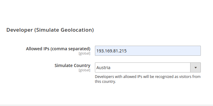 Simulate Geolocation in Magento 2