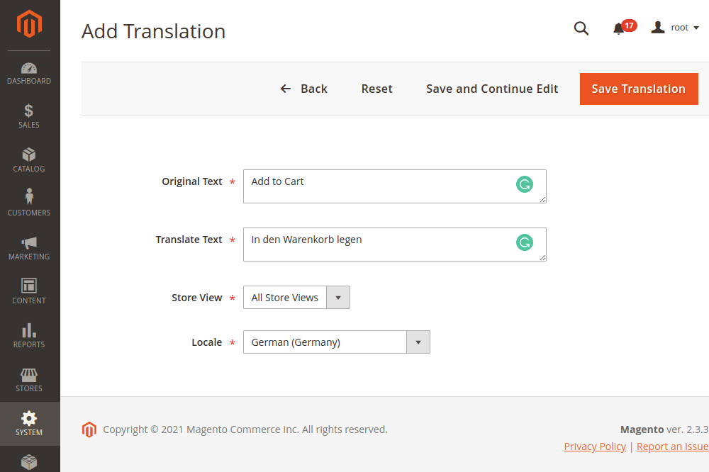 Translate Buttons in Magento 2