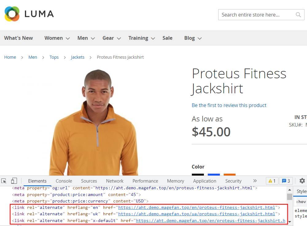 Hreflang Tags on Product Page