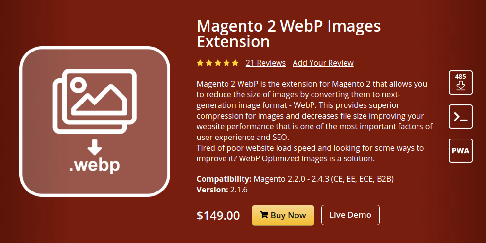 Magento 2 WebP Images Extension
