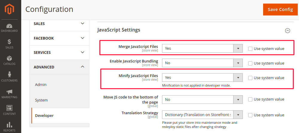 Merge and Minify JS Files in Magento