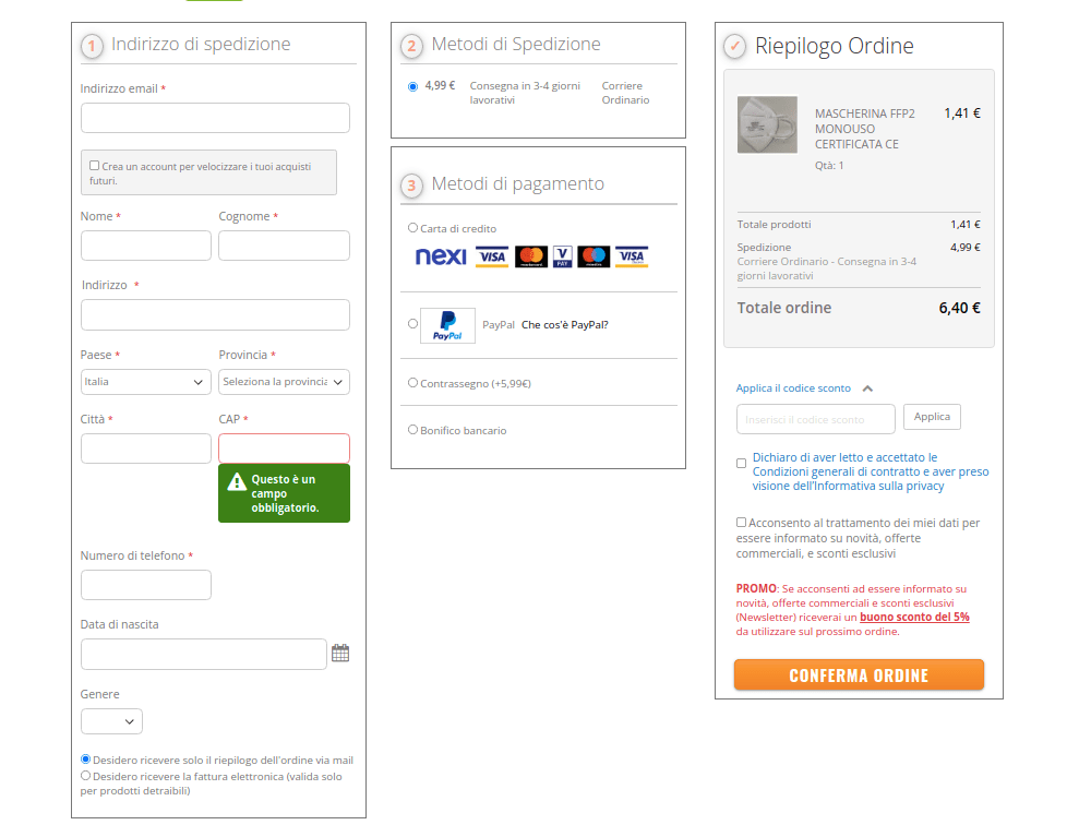 One Step Checkout Example