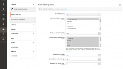 Magneto 2 Better Order Grid Extension General Configuration with product Column Grid Template