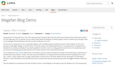Magefan Blog Demo