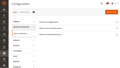 Magento 2 Admin Email Notification Extension