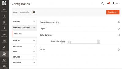Choosing  Magento 2 Admin Color Schema