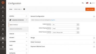Better Checkout Extension GeneralConfiguration