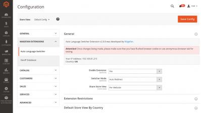 Magento 2 Language Switcher General Configuration