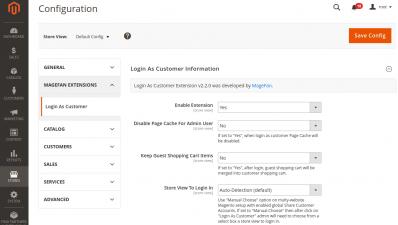 Magento 2 Login as Customer Extension Configuration