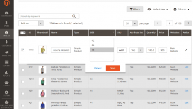 Single Product Editing in Magento 2