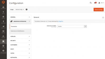 Magento 2 Translation Extension Configuration