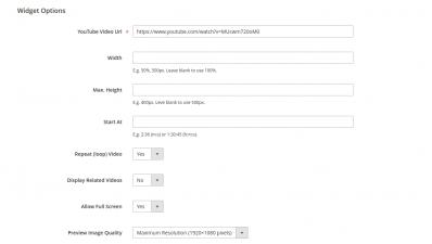 Magento 2 YouTube Video Options