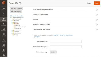 Twitter Cards Fields On The Category Edit Page