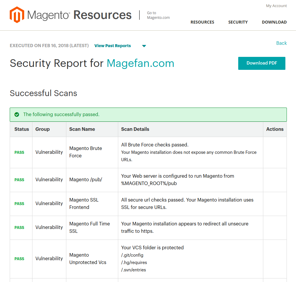 Magento Security Scan Tool