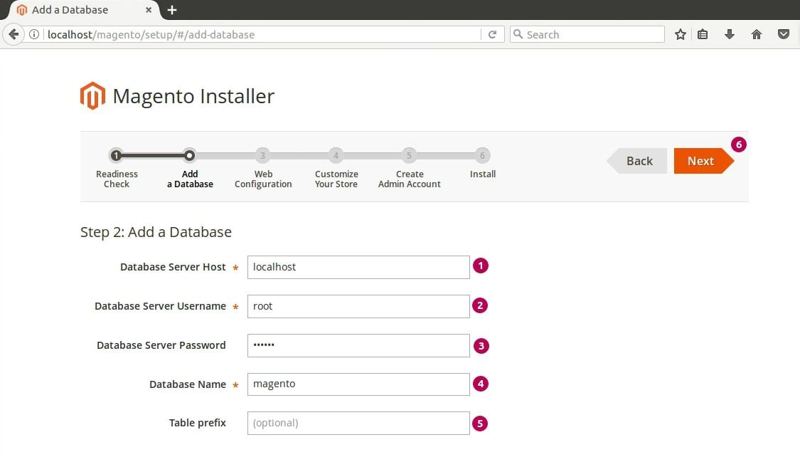 Magento Installer Database Adding