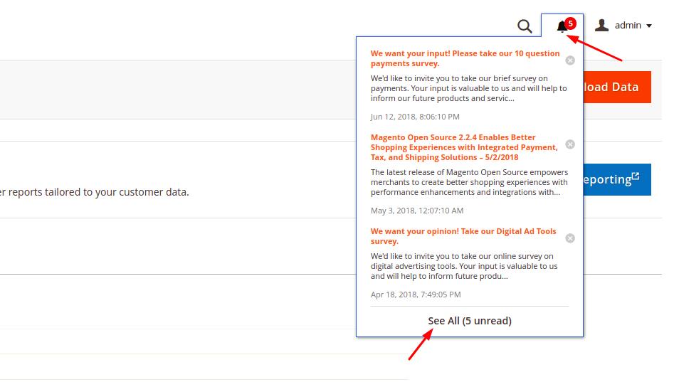 Magento 2 Admin Notification Popup