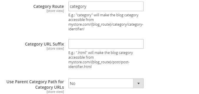 Configure Magento 2 Category path
