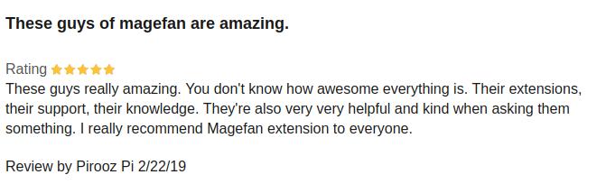 Оригінальний відгук на Magefan Blog