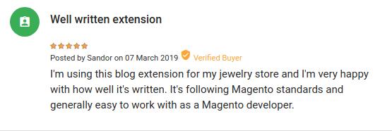 Фейковий відгук на Mageplaza Blog