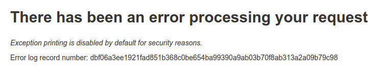 There has been an error processing your request