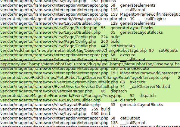 Magento Code Backtrace