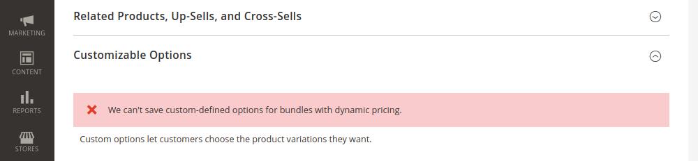 Magento 2 Bundle Products Customizable Options