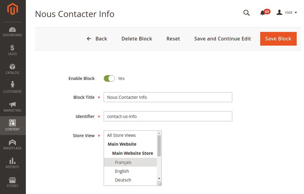 Magento 2 translated cms block info