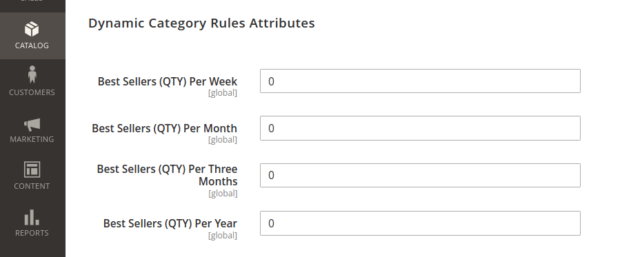 Magento 2 Dynamic Category Rules Attributes