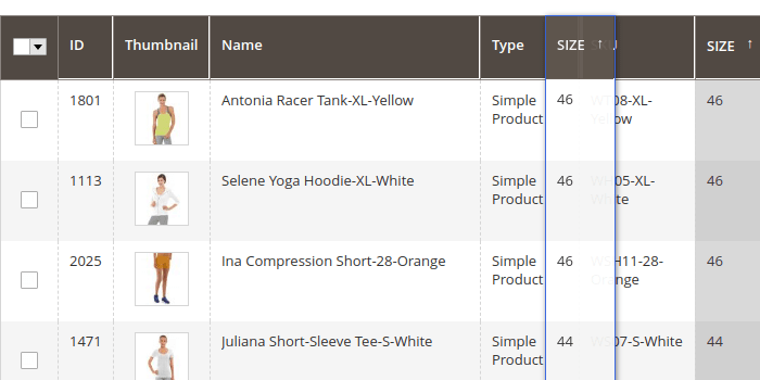 Magento 2 Product Grid Columns Drag and Dropping