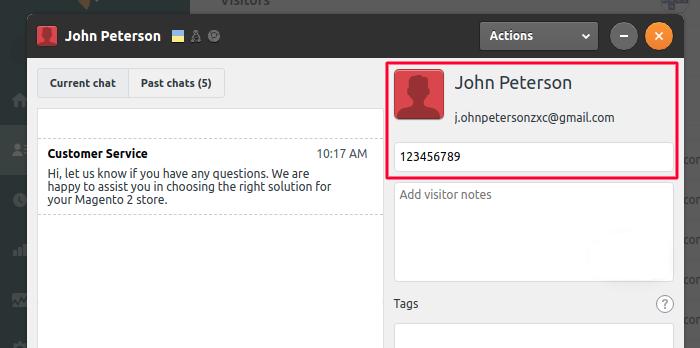 Customer Data in Zendesk Chat