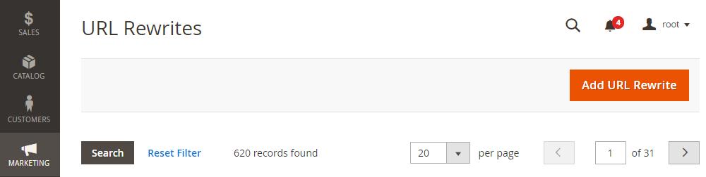 Magento 2 301 Redirect, Add URL Rewrite