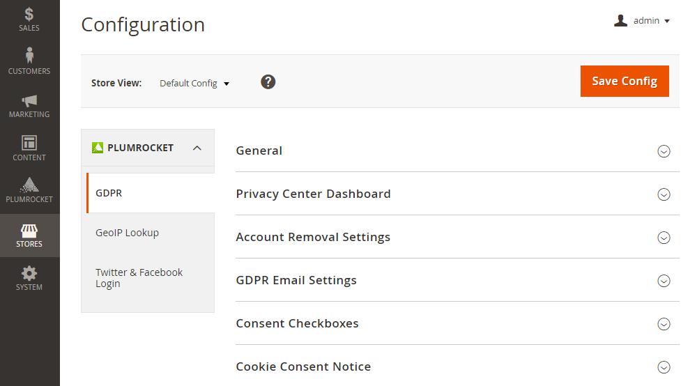 Magento 2 GDPR Configuration
