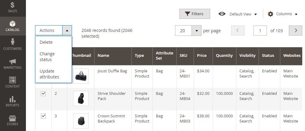 Update product attributes in Magento 2