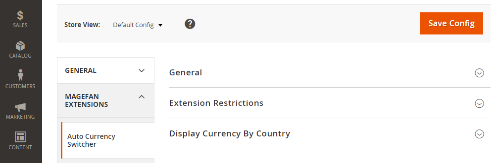 Magento 2 Auto Currency Switcher, General,Extension Restrictions