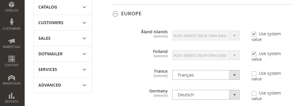 Magento 2 Auto Language Switcher ,Default Store View BY Country