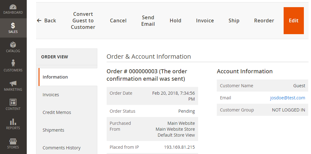Magento 2 Convert Guest to Customer,Order View